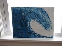 impressionist wave painting