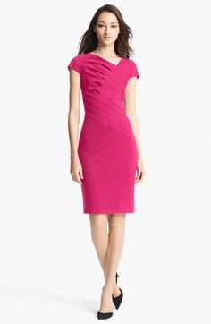 ESCADA Cap Sleeve Dress available at #Nordstrom