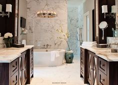 san antonio interior designers - Herringbone, Marbles and Walnut cabinets on Pinterest