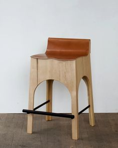 The Jack Stool has a leather seat, wood base, and an iron footrest for comfort. Made in USA , its simple design is enhanced by beautiful detailing. Polywood Adirondack Chairs, Adirondack Chairs For Sale, Chair Pads, Chair Cushions, Portable Stool, Leather Stool, Small Accent Chairs, Wood Stool, Outdoor Dining Chairs