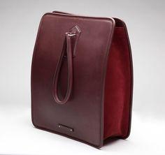 Jean Paul Gaultier | Piercing Burgandy Shopper Bag