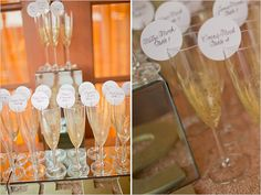 GENIUS!!! Champagne toast for your table