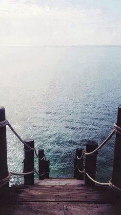 Pier Dock Ocean View iPhone 6 wallpaper