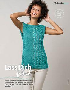 Strickanleitung Katia Türkises Fallmaschenshirt Fantastische-Sommerstrickideen-0316