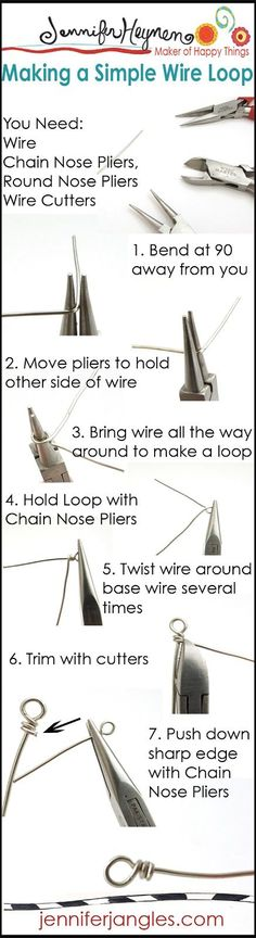 Jewelry Making Basics : Making A Simple Wire Loop  | A great jewelry how-to for beginners!