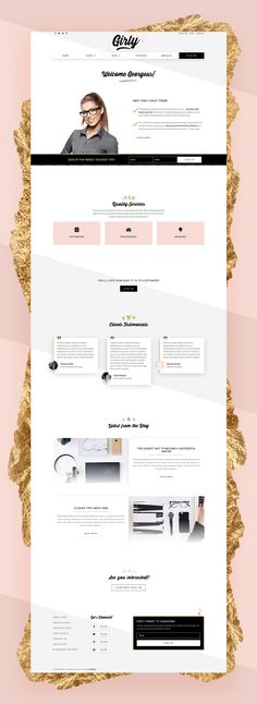 Girly is a sleek, elegant, and cute theme designed for female entrepreneurs who aim for success. #Divi #WordPress #Template #ChildTheme