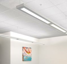 Series 16 LED Pendant 2 Engine by Finelite Indirect Lighting, Linear Lighting, Lighting Design, Bay And Bay, Commercial Interiors, Sustainable Design, Clean Design, Interior Lighting, Family Room