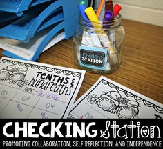 I couldn't run centers without my checking station! This FREEBIE is the perfect was to start making your centers more independent.