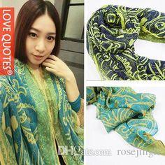 шелковые шарфы женщины повседневная великолепная печати шарф шаль