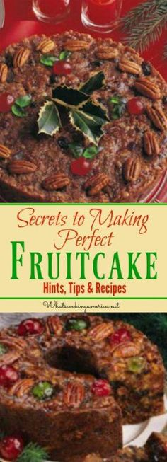 Secrets to Perfect Fruitcake - Hints,Tips & Recipes (Fruit Cake) Christmas Sweets, Christmas Cooking, Christmas Fruitcake, Christmas Cakes, Christmas Fruit Cake Recipe, Christmas Christmas, Christmas Decorations, Food Cakes, Cupcake Cakes