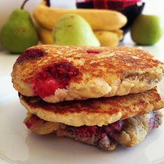 Raspberry Coconut Flour paleo pancakes #LivinPaleo