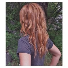 Copper Strawberry Blonde Hair ❤ liked on Polyvore featuring beauty products, haircare and hair