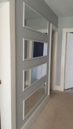 Elongate Hallway Using 5 Walmart Mirrors