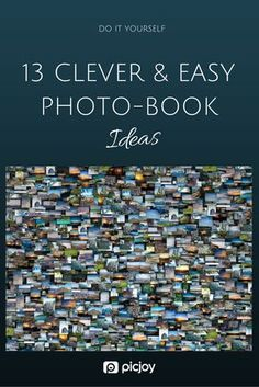 These photo-book ideas are great. I can't wait to try some of them.
