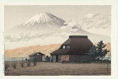 Hasui Kawase détail - Le mont Fuji vu de Narusawa en automne 1936 (HK12)