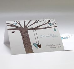 Heart Strings Personalized Thank You Card