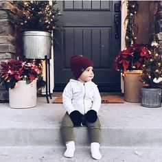 Only 2 more days until Hanukah and 3 more days until Christmas. && My to-do list is a mile long. send help. Your little cuties bundled up in #carlymegan sure make a lovely distraction  // [olive] tide harems #youandmeandthesea16