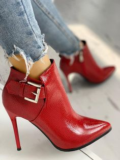 Our new Collection of women's High Heel sandals and shoes. We have of styles from wedge heel, stiletto heel, platform shoes, and more. High Heel Boots, Heeled Boots, Bootie Boots, Shoe Boots, High Heels, Shoes Heels, Heeled Sandals, Red Ankle Boots, Sandals Outfit