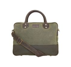 Breifcase-Luggage and Bags-Olive. Land Rover Briefcase. Lifestyle Barbour International