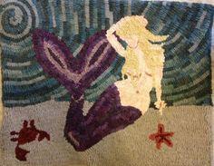 Mermaid Rug hooking Pattern