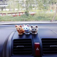 Bobble Head Lovely Cat Dolls Car Bobblehead Dashboard Home Nodder Decor Gift Com
