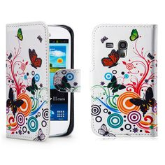 £3.99 GBP - Designer Pu Leather Book Wallet Case Cover For Samsung Galaxy S3 Mini I8190 #ebay #Electronics
