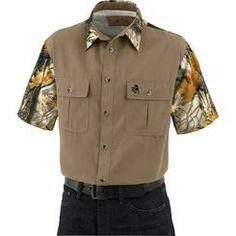 We took our most popular field shirt and built a short sleeve version. Hands down the best field shirt we ever made! Designed in Clever Cloth™ performance fabric for easy care and extreme, all-season comfort. Will not fade or shrink, ever! Features our popular God's Country® Camo, double chest pockets with Signature Buck embroidery, and a comfortable roomy cut that's great for any activity. Imported.