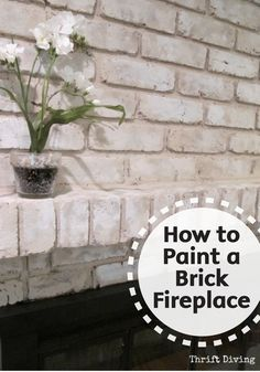 Easily refinish your old brick fireplace and give it a brand new look by painting it. Check out this great DIY tutorial for the best tips and tricks to make a big impact with a small budget. Make sure to add Bounty Paper Towels to your project supply list Brick Fireplace, Fireplace Remodel, Updating House, White Wash Brick, Remodel, Brick, Old Bricks, Fireplace Decor, Fireplace