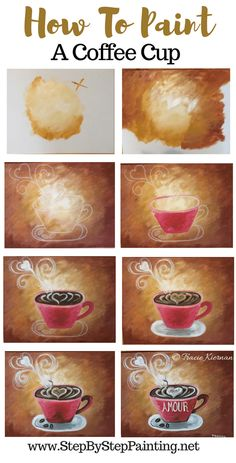 DIY Coffee Art Acrylics on Canvas coffee painting canvas diy acrylic step by step for beginners Coffee Painting Canvas, Easy Canvas Painting, Acrylic Canvas, Easy Paintings, Diy Painting, Canvas Art, How To Paint Canvas, Trippy Painting, Simple Acrylic Paintings