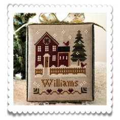 Little House Needleworks Hometown holiday cubes - I have made the first two.
