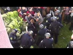 Occupy Cal protesters and the police in Berkeley