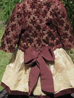 French Velvet Silk Doll Dress for Antique Dolls | eBay>>>>>>>>>>>>>>>>>>>>>>>>>