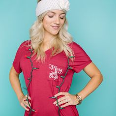 Amelia James Holiday Tee - find out when you can get one.  Merry and Bright