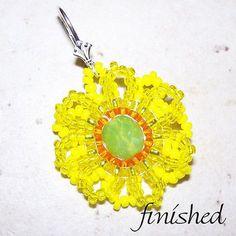 Seed Beaded Sunflower Earring Tutorial