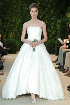 Tea length with scallops, Carolina Herrera Spring 2014