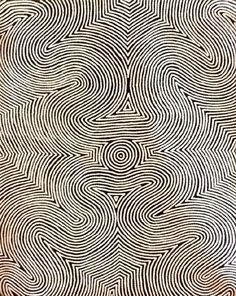 like a fingerprint -- Aboriginal Art Galleries - Polly Nelson Nungala Aboriginal Painting, Arte Popular, Australian Art, Indigenous Art, Native Art, Textures Patterns, Organic Patterns, Land Art, Tribal Art