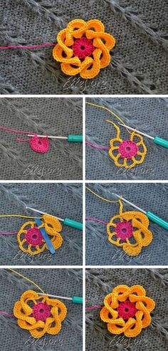 Multi Petals Crochet Flower Pattern
