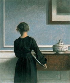 Made by the Danish painter Vilhelm Hammershøi.(1903)