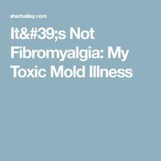 It's Not Fibromyalgia: My Toxic Mold Illness