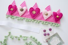 Valentine's Day DIY Crowns for Toddler and Baby