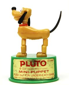 Mini Disney Pluto Kohner Push Toy and 1960s Toys, Retro Toys, Vintage Toys, Vintage Stuff, My Childhood Memories, Childhood Toys, Sweet Memories, Mini Disney, Walt Disney
