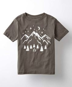Look what I found on #zulily! Charcoal Mountain Scene Tee - Kids by Cotton Jungle #zulilyfinds