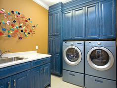 Somehow they made this laundry stylish and fun! Love! Plan 055S-0087 | House Plans and More