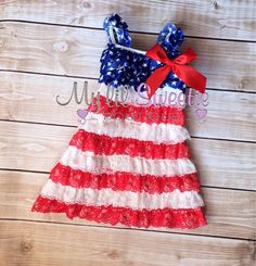 Sale Patriotic dress, 4th of July dress, Lace dress, baby girl outfit, infant dress, newborn dress,  toddler dress, girls dress, on Etsy, $26.95