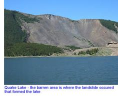 Quake Lake in Southern Montana