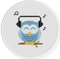FREE for Jan 20th 2015 Only - Music Lover Owl Cross Stitch Pattern