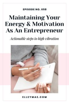 From setting boundaries, mindset work and looking after yourself – we will cover all the bases for maintaining your energy as an entrepreneur. #EntrepreneurTips #EntrepreneurMindset