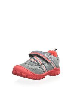 57% OFF OshKosh B'Gosh Meteor2 Sneaker (Toddler/Little Kid) (Grey/Red)