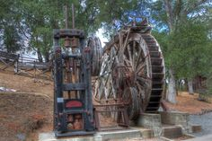 Water wheel powered mining
