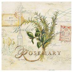 Tuscan Herbs Impressão artística